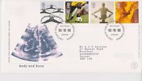 GB ROYAL MAIL FDC FIRST DAY COVER 2000 BODY & BONE STAMP SET BUREAU PMK