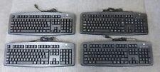 Joblot 4 x V7 KC0D1-5E3P Black Standard Wired USB Computer Desktop PC Keyboard