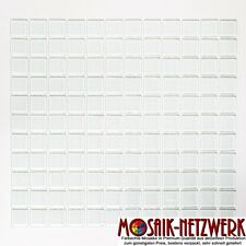 Glasmosaik weiß Küche Fliesenspiegel Wand Decke 25x25x4 Art:60-0102_f-10Bögen