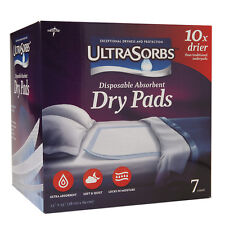 Medline Ultrasorbs Disposable Dry Pads, 23 x 35 Inches 7 ea