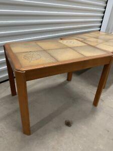 Mid Century Modern Møbelfabrik Teak Wood Tile Top End Table Made in Denmark
