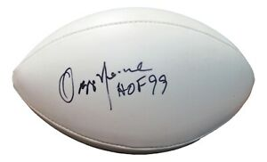 """Ozzie Newsome Signed Autographed Football """"HOF 99"""" Browns PSA/DNA AJ56027"""