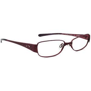Oakley Women's Eyeglasses Poetic 4.0 Titanium Berry Rectangular Frame 52[]16 132