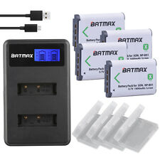 4x  NP-BX1 Batteries &LCD Dual USB Charger for SONY DSC-RX100 WX350 WX300 HX300