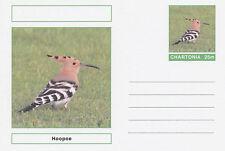 Cinderella 4694-Aves-abubilla en tarjeta postal stationery de fantasía