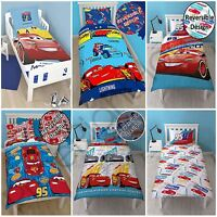 DISNEY CARS SINGLE DOUBLE DUVET COVER SET / FITTED SHEET BOYS KIDS BEDDING