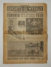 CANADIAN SPORTS WEEKLY Toronto Volume 1 No. 1 Boxing Ted Reeve Lou Marsh Racing