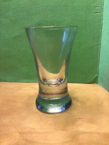 """Antique drinking glass vintage heavy thick base small tumbler 4.5"""" tall wine gin"""