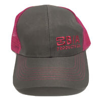 B / A Products Materials Handling Trucker Gray Pink Mesh SnapBack Dad Hat Cap
