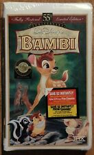 Bambi (VHS) 55th Anniversary Masterpiece Walt Disney - New & Sealed