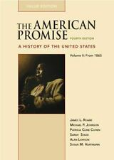 The American Promise Value Edition, Volume II: From 1865: A History of the Unit