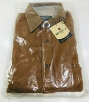 Woolrich Mens Griffin Wool Long Sleeve Shirt Brown Elbow Patches - Size L Large