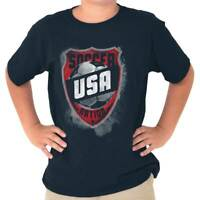 Soccer Nation USA Patriotic American Athletic Youth T-Shirt Tees Tshirt For Kids