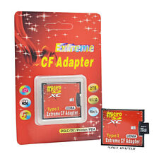Memory Card Adapter Reader SD TF SDHC SDXC To CF Compact Flash Type UK su