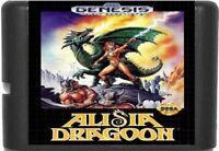 Alisia Dragoon (1992) 16 Bit Game Card For Sega Genesis / Mega Drive System
