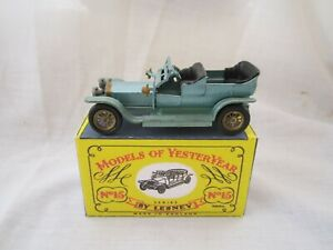 1960 MODEL OF YESTERYEAR Y15-1. 1907 ROLLS ROYCE SILVER GHOST WITH REPRO BOX.