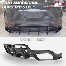 For Lamborghini Urus TPC Style Carbon Fiber Rear Bumper Diffuser Lip BodyKits