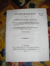Thèse MEDECINE : hémoptysie active (hémorrhagie pulmonaire) par Ricard - 1817