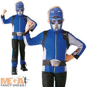 Classic Blue Beast Morpher Boys Fancy Dress Power Rangers Superhero Kids Costume