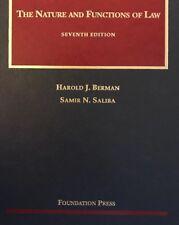 The Nature and Functions of Law by Harold J. Berman & Samir N. Saliba (7th Ed.)