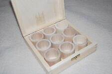 Boîte en Bois Blanc 9 de Pièces Flatnapkin Anneaux 100% Bois Naturel
