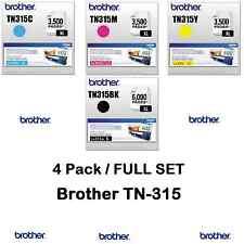 4 Pack GENUINE BROTHER OEM TONER SET TN315BK TN315C TN315Y TN315M - SEALED