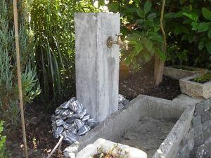 TRAUMHAFTE STELE aus grauem KALKSTEIN Brunnen Trog Steintrog Sandsteinbrunnen