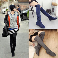 Stretch Knee High Boots Winter Boots Shoes Women Long Boots Over The Kne Boots