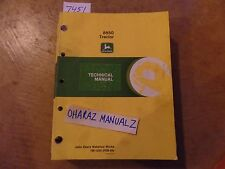 John Deere 8850 Tractor Technical Manual Tm 1254