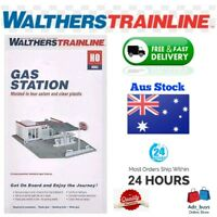 Walthers Trainline HO Scale GAS STATION Brand new 4 model train hobby kit
