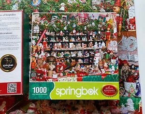 2013 Hallmark Springbok 40 Yr Classic Keepsakes Ornament 1000 Pc Puzzle Complete