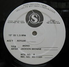 """JACKSON BROWNE Stay/Load Out 1977 Promo MONO 12"""" TEST PRESSING Running On Empty"""