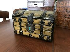 1920's Antique Treasure Chest Biscuit Tin Vintage GBC General Biscuit Company