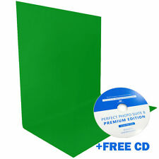 5x7ft Green Muslin Backdrop Photography Studio / Free Perfect Photo Suite 8 CD