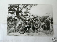 C TORSTEN HALLMAN HUSQVARNA WK 250 CC 1962 MX CROSS VINTAGE POSTCARD MOTO 11-01
