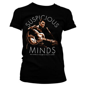 Officially Licensed Elvis Presley - Suspicious Minds Women's T-Shirt S-XXL Sizes
