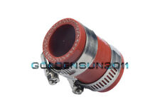 """FOR KX CR RM YZ KTM DIRT BIKE EXHAUST COUPLING CLAMP 1""""ID 80 125 250 ATV RED 1PC"""