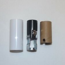 "2"" TALL KEYLESS CANDELABRA SOCKET WITH WHITE CANDLE COVER LAMP PART 307125J"