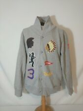 Undefeated 2002 Champions Cardigan Button Front Sweater Gray Mens Sz XL EUC