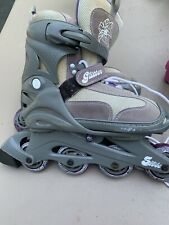 Schwinn Girls' 2-in-1 Quad and Inline Roller Skate with Adjustable Size 5-8 -.