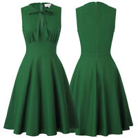 Womens Vintage 50's 60's Style Cocktail Evening Party Elegant Swing A-line Dress