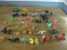 Assorted Plastic Insects Bugs Figures Educational Toys Ant Bee Butterfly Lot 25