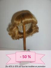 -50% PROMO - PERRUQUE de POUPEE T7 (28.5cm) cheveux Bouclée blond foncé