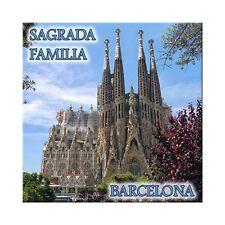 Fridge magnet with view of Sagrada Familia - Barcelona, Spain