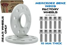 Mercedes Benz 2pc Kit 10mm 5x112 66.6 I.D Extended Lug Bolts Included Fits W209