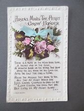 ANTIQUE Postcard ABSENCE MAKES THE HEART GROW FONDER RP Lilywhite Halifax