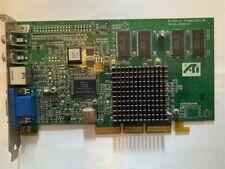 ATI RAGE 128 PRO AGP 32MB DDR 109-63200-01 VGA GRAPHICS CARD