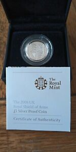 2008 The Royal Shield Of Arms Silver Proof £1 One-pound Coin