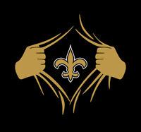 New Orleans Saints Superman Rip shirt Who Dat Nation Drew Brees Kamara NOLA