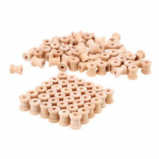 Lot of 100 Large Wooden Wood Hand Crafts Thread Spool Craft Bird Toy Parts New